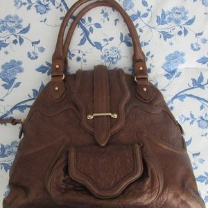 Botkier Bronze Statement Shoulder Bag Leather